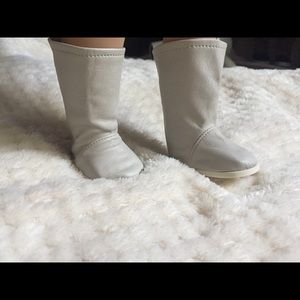 Shoes - whitish gray knee high boots